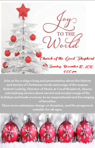 Joy to the World @ Church of the Good Shepherd