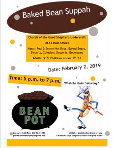Baked Bean Suppah @ Good Shepherd Church Undercroft