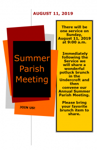 Annual Summer Meeting @ Church of the Good Shepherd