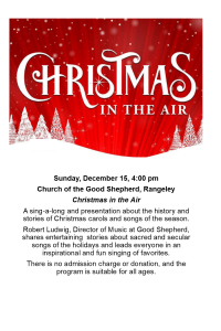 Christmas In The Air @ Church of the Good Shepherd